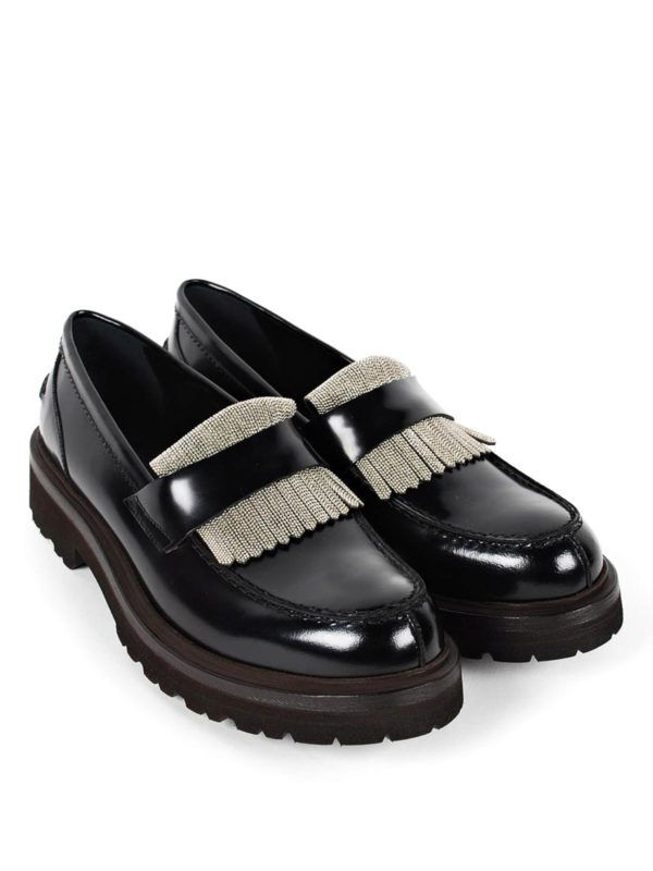 b2e4e5d610 BRUNELLO CUCINELLI - Loafers with metal detail