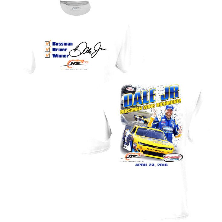 Dale Earnhardt Jr. JR Motorsports Team Collection Toyota Care 250 XFINITY Series Race Win T-Shirt - White - $19.99