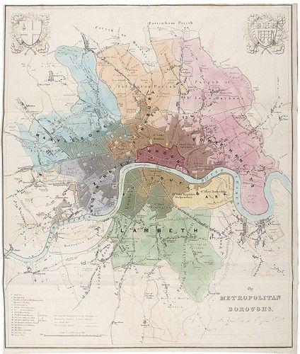 DAWSON, Robert Kearsley. The Metropolitan Boroughs as defined by the Reform Bill. 1832.  http://sotherans.blogspot.co.uk/