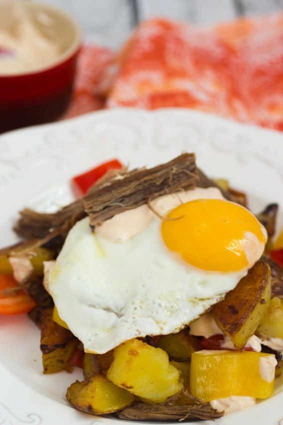 Beef Brisket Hash from The Girl In The Little Red Kitchen