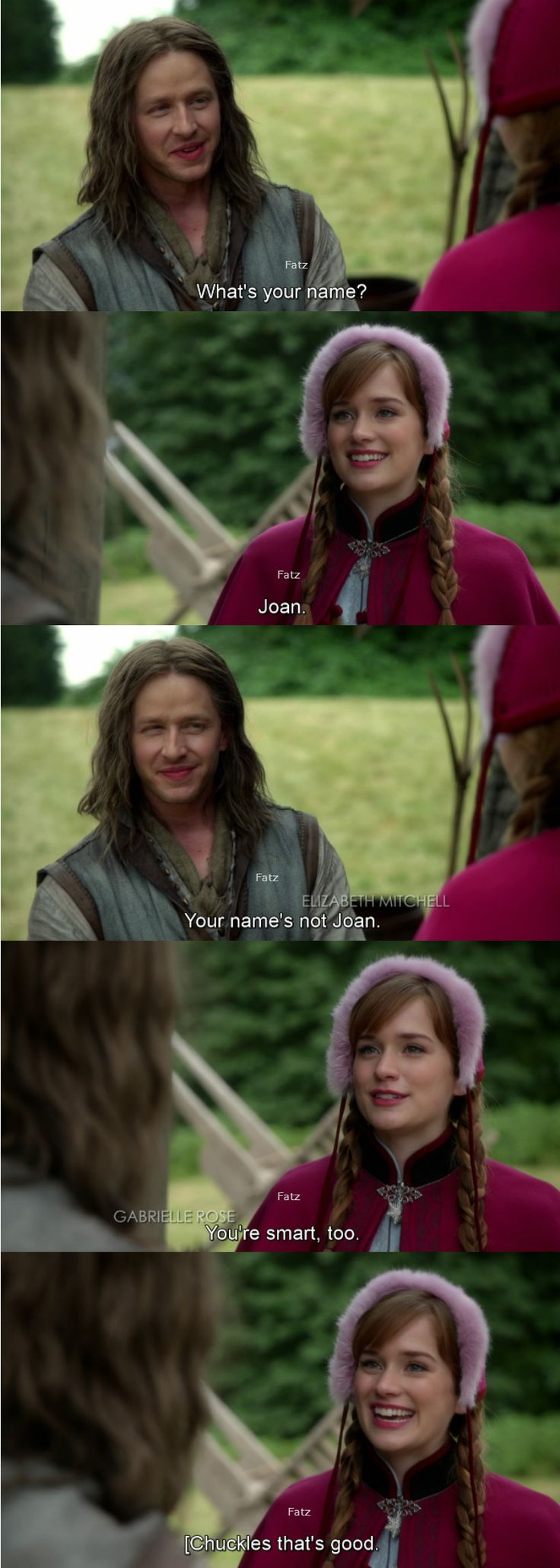 Joan! So much about this name! BUT MORE ABOUT CHARMING'S HAIR
