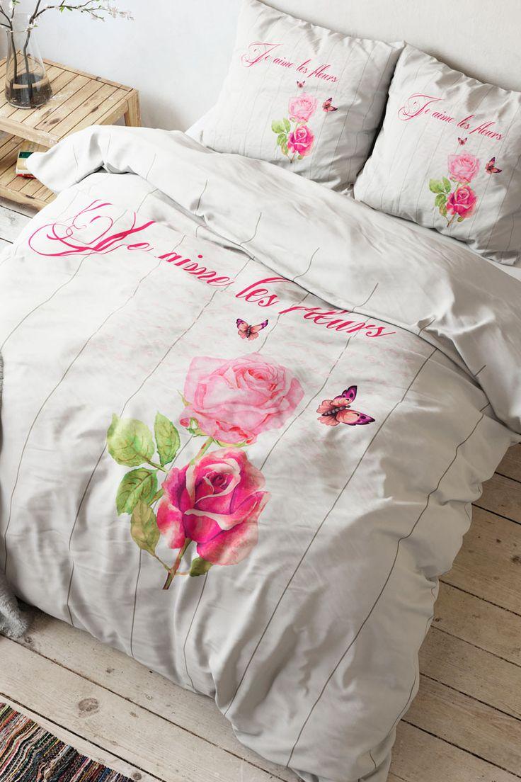 Vendita Home Living / 28103 / Biancheria da letto / Parure copripiumone / Parure Copripiumone French Love Bianco e Rosa