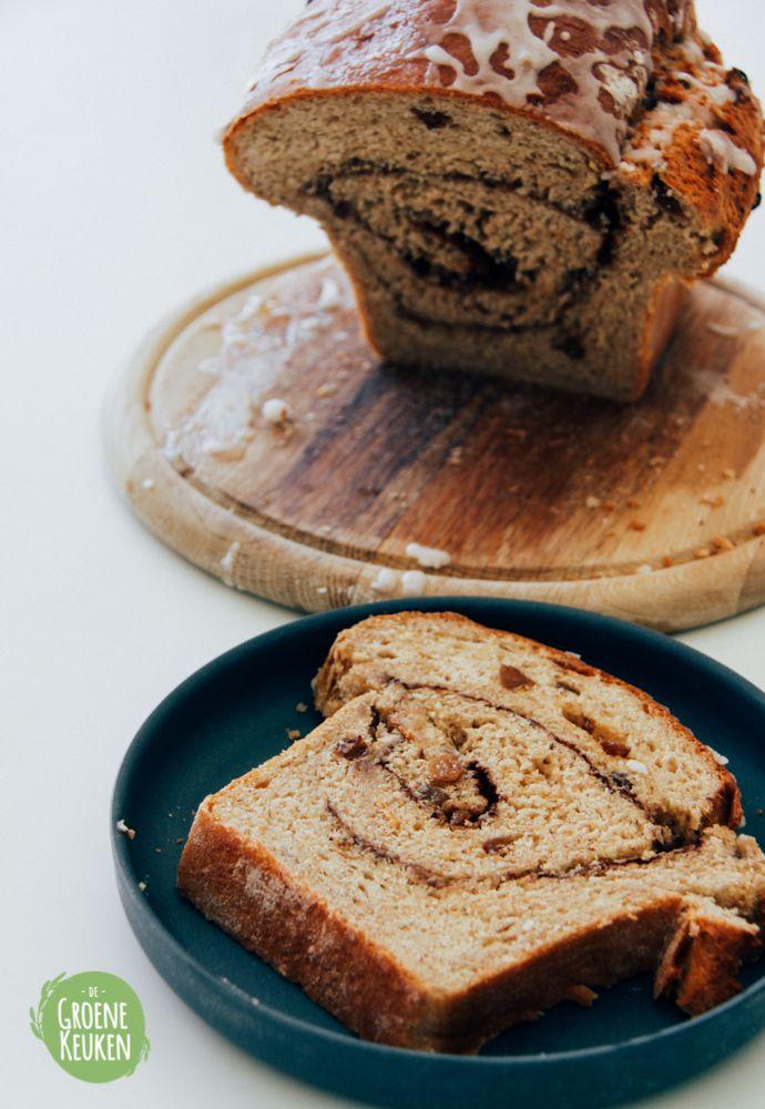 Kaneel-Rozijnenbrood   De Groene Keuken