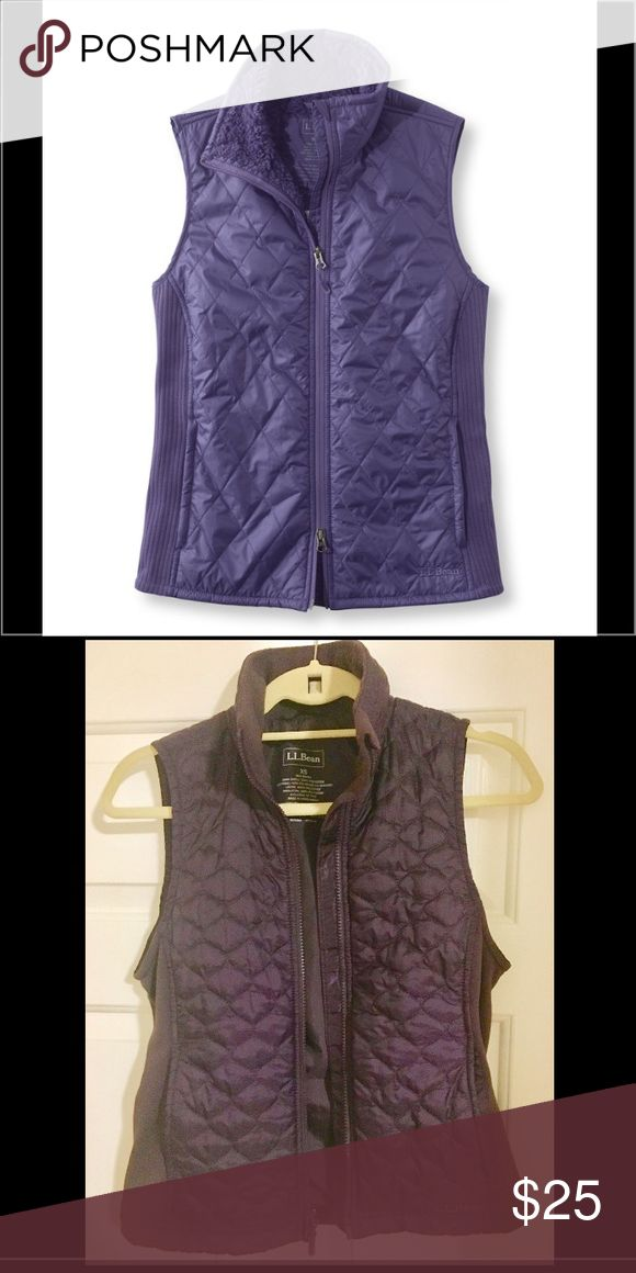 L.L. Bean women's fitness vest Gently worn, great condition. Perfect for outdoor activity in chilly weather. True color in first photo. L.L. Bean Jackets & Coats Vests