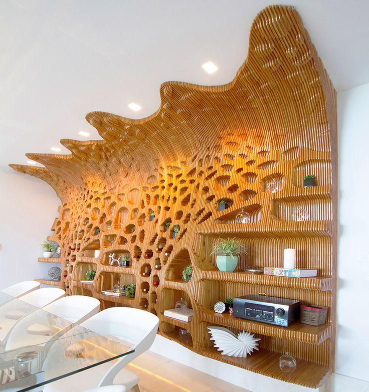 CNC milled and layered shelf in panama byduly leeand satoru sugihara image © duly lee