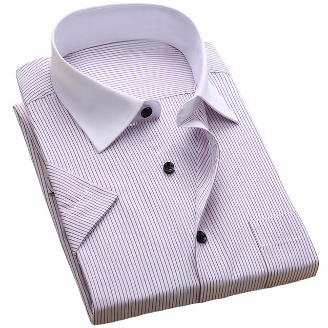 Check current price Men's Short Sleeve Dress Shirt Plus Size 8XL 7XL 6XL Color White Light Blue Casual Shirts For Male Fashion Camisa Masculina just only $12.09 with free shipping worldwide  #shirtsformen Plese click on picture to see our special price for you