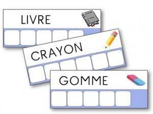Atelier des mots sur la rentrée des classes
