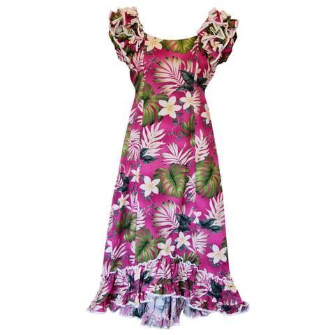 Amazon Purple Hawaiian Meaaloha Muumuu Dress with Sleeves