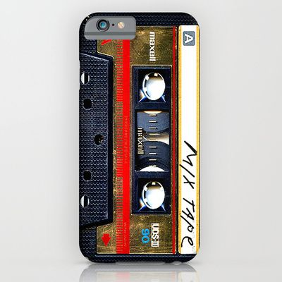 classic retro Gold mix cassette tape iPhone 4 4s 5 5c, ipod, ipad, tshirt, mugs and pillow case iPhone & iPod Case by Three Second - $35.00