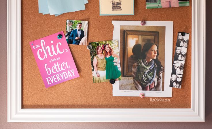 The Definition Of Chic Bulletin Board Home Decor