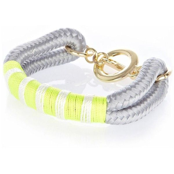 River Island Grey fluro oversized bungee cord bracelet ($18) ❤ liked on Polyvore