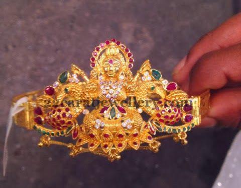 Jewellery Designs: Varalakshmi Peacock Bajuband