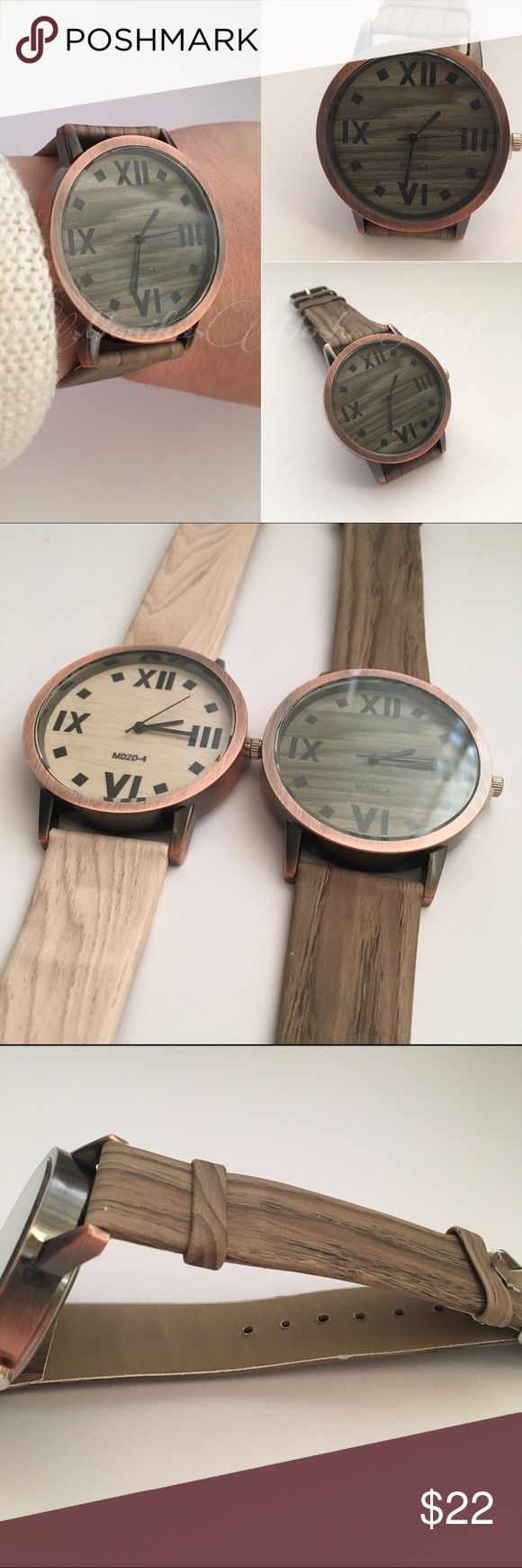 Brown Retro Roman Numeral Wood Grain Wristwatch Feature:  100% brand new and high quality Quantity: 1 PC Fashion women watch  Material: Denim  Size: 230*19mm,39*7mm Style: Retro,Fashion Waterproof: No Color:As shown also available in a light tan Accessories Watches