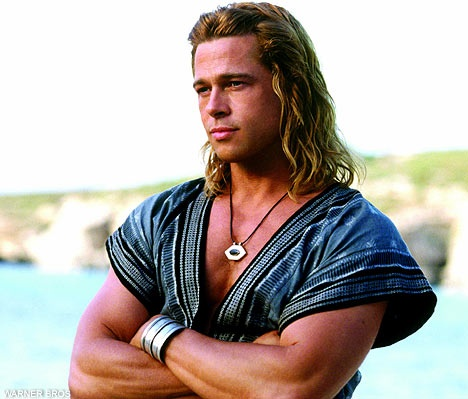 136 best Long Haired Men images on Pinterest | Long hair ... Achilles Brad Pitt Hair