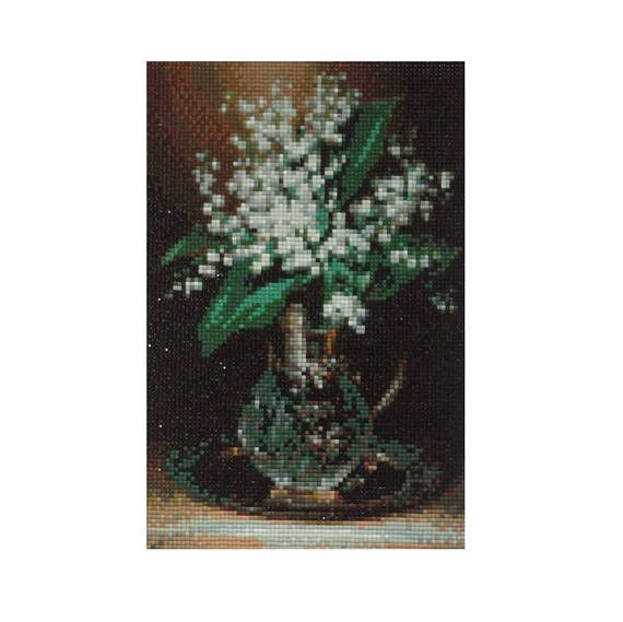 Lily of the valley Diamond Painting Finished Completed Wall Decor Embroidery Cross Stitch Rhinestone Needlework Mosaic