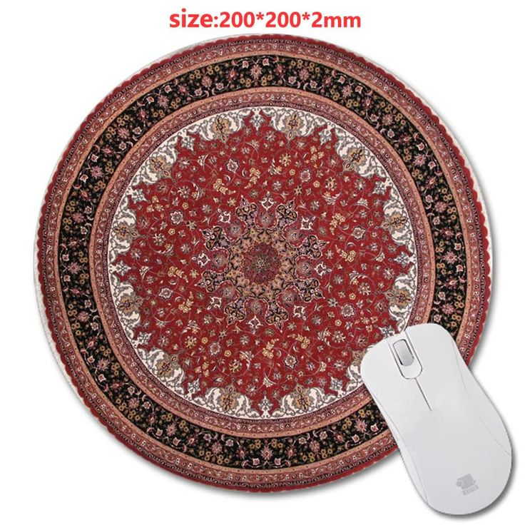 Circular Carpet rubber game mouse pad 3D  Frint  PC mputer Gaming Mousepad Fabric + Rubber Material - accessory and gift