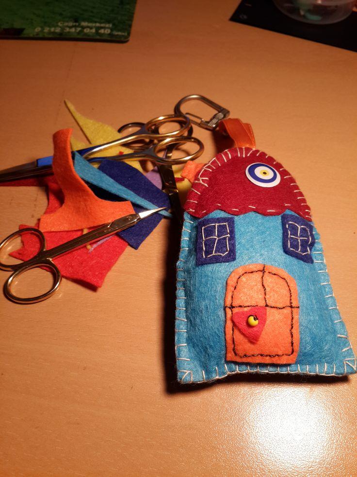 keçe anahtarlık, felt key chain