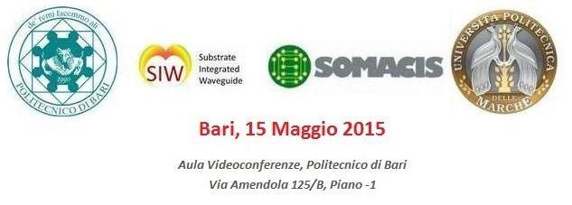 """#EventiPoliba #SaveTheDate A nome del Prof. Prudenzano, Vi comunichiamo che il 15 Maggio prossimo, presso il Politecnico di Bari (sala Videoconferenze, via Amendola), si terrà la conferenza dal titolo """"Substrate Integrated Waveguides and Related Technology, CSIWT2015"""", organizzata nell' ambito del Progetto SIW-PON01_01224.  L'iscrizione gratuita (max 70 partecipanti), da effettuarsi on-line (http://www.csiwt2015.com/), dà diritto agli abstract ed alla partecipazione al buffet. Alla…"""