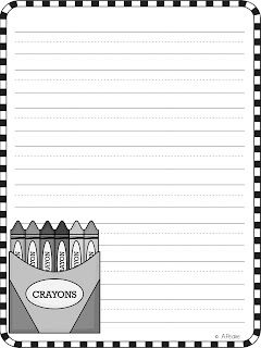The Crayon Box That Talked Freebie Writing Papers - The Bubbly Blonde Teacher
