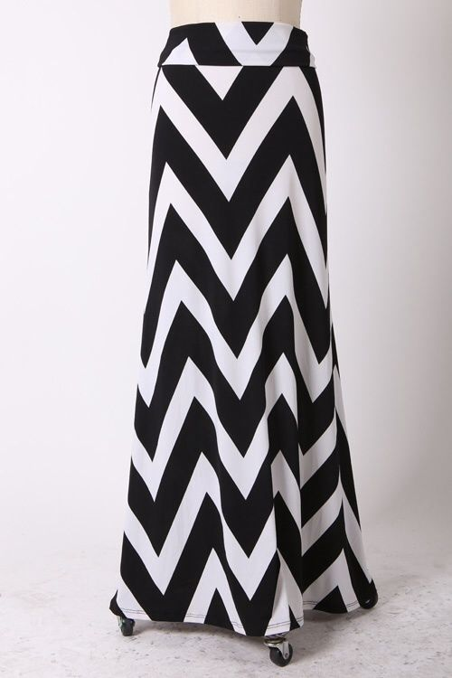 Kelly Brett Boutique: Women's Online Clothing Boutique - Plus Size Chevron Maxi Skirt Black, $34.00 (http://www.kellybrettboutique.com/plus-size-chevron-maxi-skirt-black/)