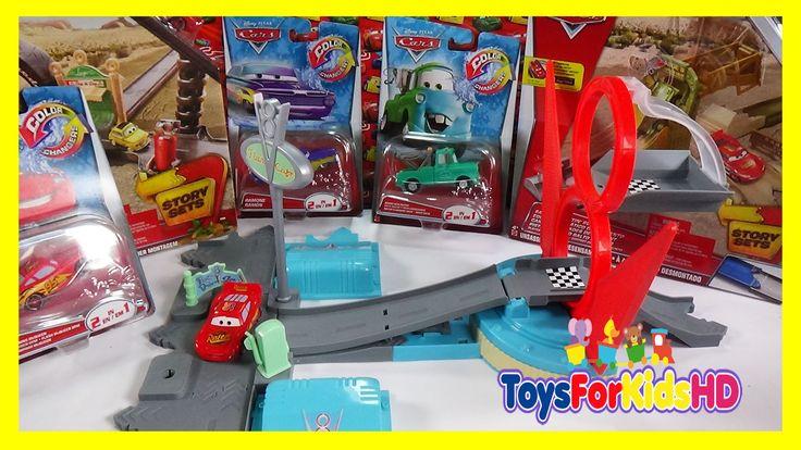 Juguetes de Cars Rampa de Salto de Flo's V8 - Rayo Mcqueen- Coches Cars Pistas de Cars ToysForKidsHD
