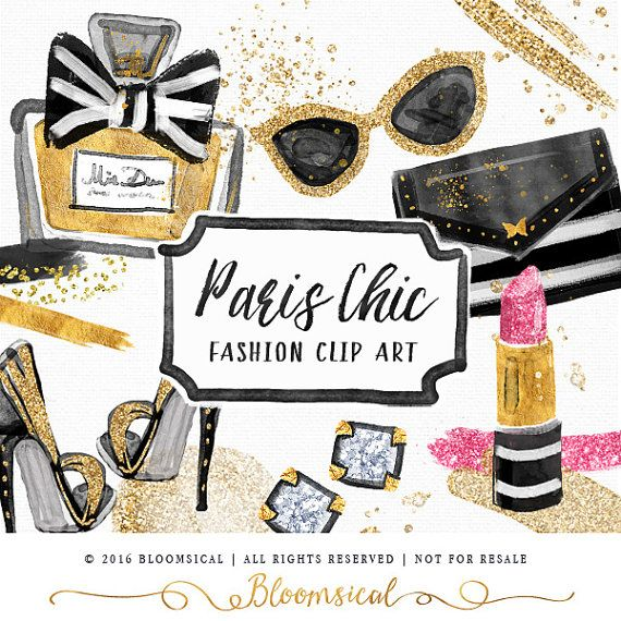 Pin Up Girl Wallpaper Black And White Paris Chic Beauty Clip Art Gold Glitter Shoes Earrings