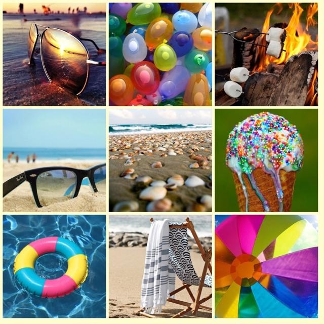 каких фотоколлаж на тему лето символом считается