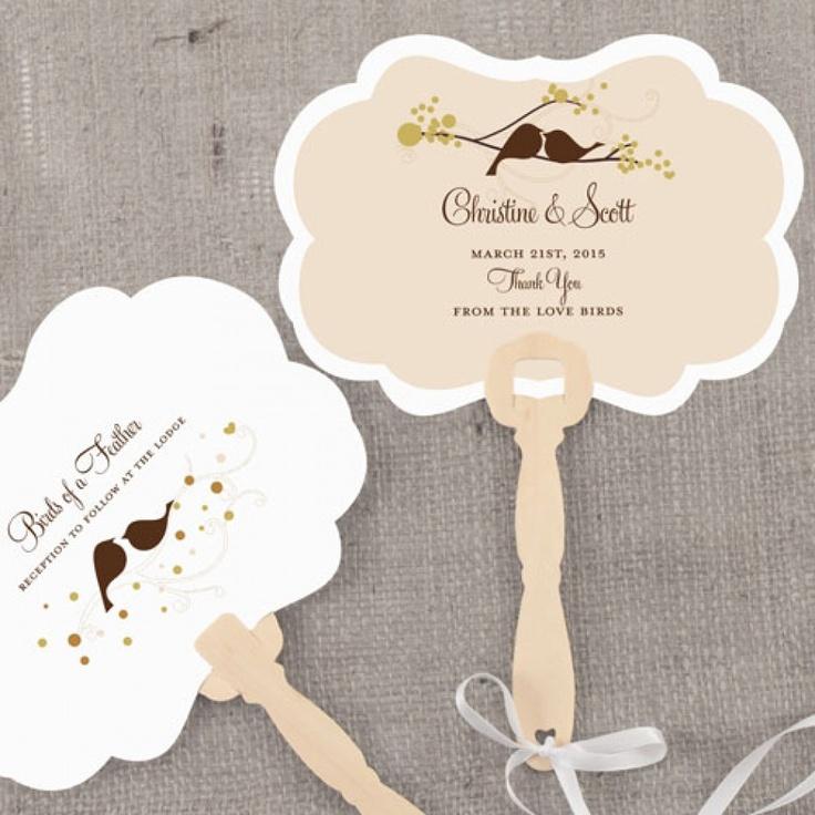 Personalized Wedding Fans Love Bird Hand Fan With