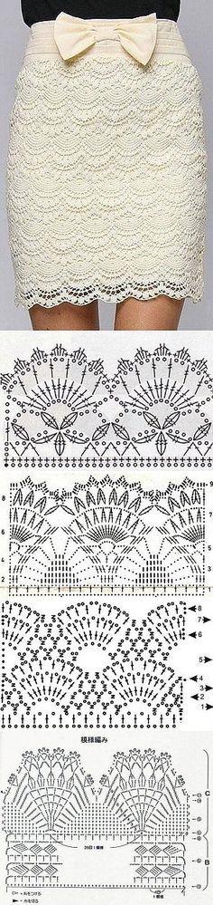 Falda crochet