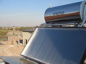 Solar thermal energy - Wikipedia, the free encyclopedia Solar thermal energy (STE) is a form of energy and a technology for harnessing solar energy to generate thermal energy or electrical energy for use in industry, and in the residential and commercial sectors.