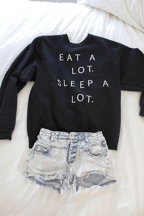 Teenage Fashion Blog: Eat # Sleep # Outfit