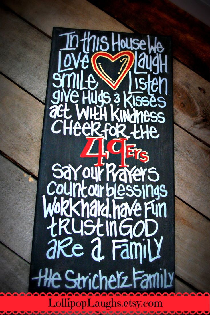 San Francisco 49'ers In this house we hand by LollipopLaughs, $17.00