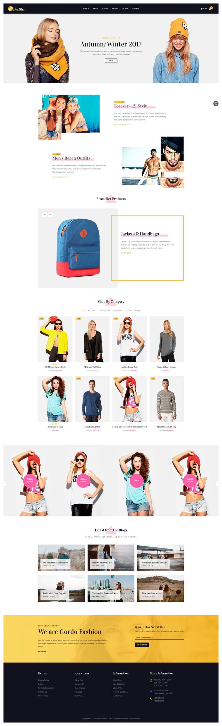 Gordo is well suited for #fashion store, apparel store, shoes, t-shirt, clothes store, supermarket store & much more. This responsive theme featured with 6 homepage layouts, built with Bootstrap and powered by Visual Composer. #woocommerce #wordpress #design #website #theme