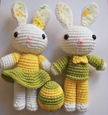 Amigurumi Easter Bunnies - Tutorial  ❥ 4U // hf