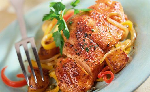 Balsamic-glazed Chicken Breasts. Add a gourmet touch to a suppertime staple.