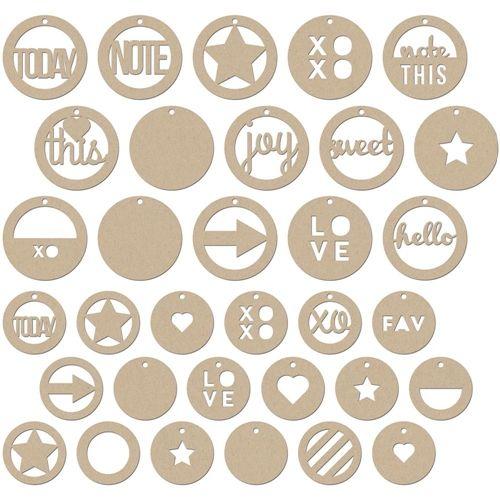 Jillibean soup kraft circle tags