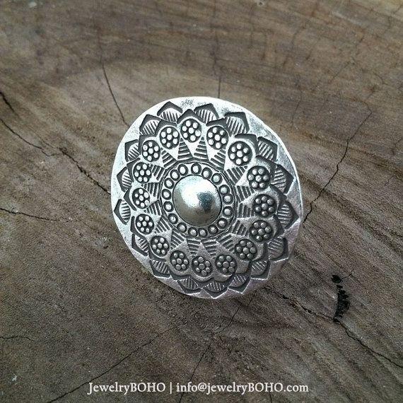 BOHO-Gypsy ring-Hippie ring-Bohemian ring-Statement ring R003 JewelryBOHO-Handmade sterling silver BOHO Tribal ring