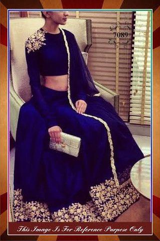 Beautiful #Blue #Lehenga in Silk   Veeshack Shop