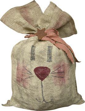burlap crafts   Burlap Bunny Bag - Craft Wholesalers --