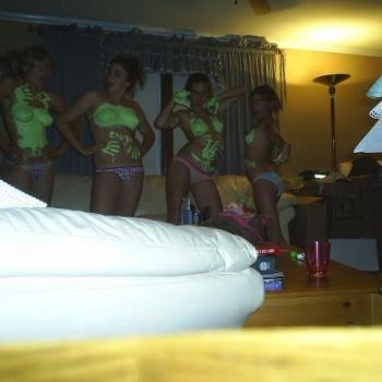 """greenpaintgirls: """"4 topless girls """""""
