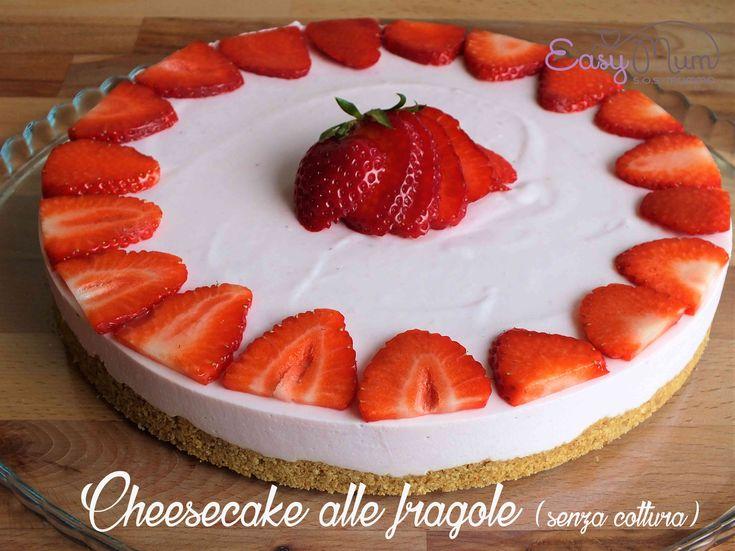 Fa caldo, avete voglia di qualcosa di fresco e magari anche dolce? Ecco la cheesecake alle fragole senza cottura che fa per voi! Facile…