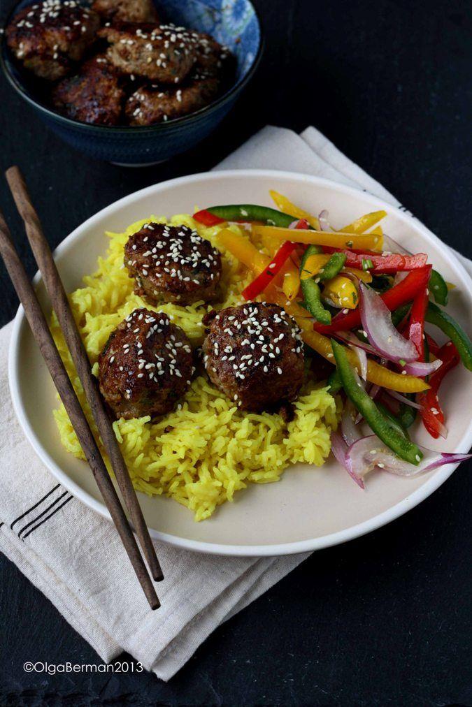 Mango & Tomato: What to do with Ground Pork: Asian Pork Meatballs with Teriyaki Glaze