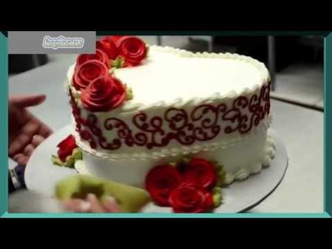 Украшение тортов кремом. Красивые торты. Оформление тортов. Как украсить торт - YouTube