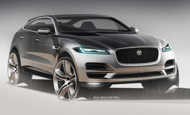 automotive-design:  Jaguar F-Pace (2015) Sketches