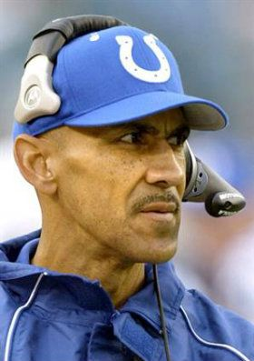 who was the colts coach before tony dungy biography