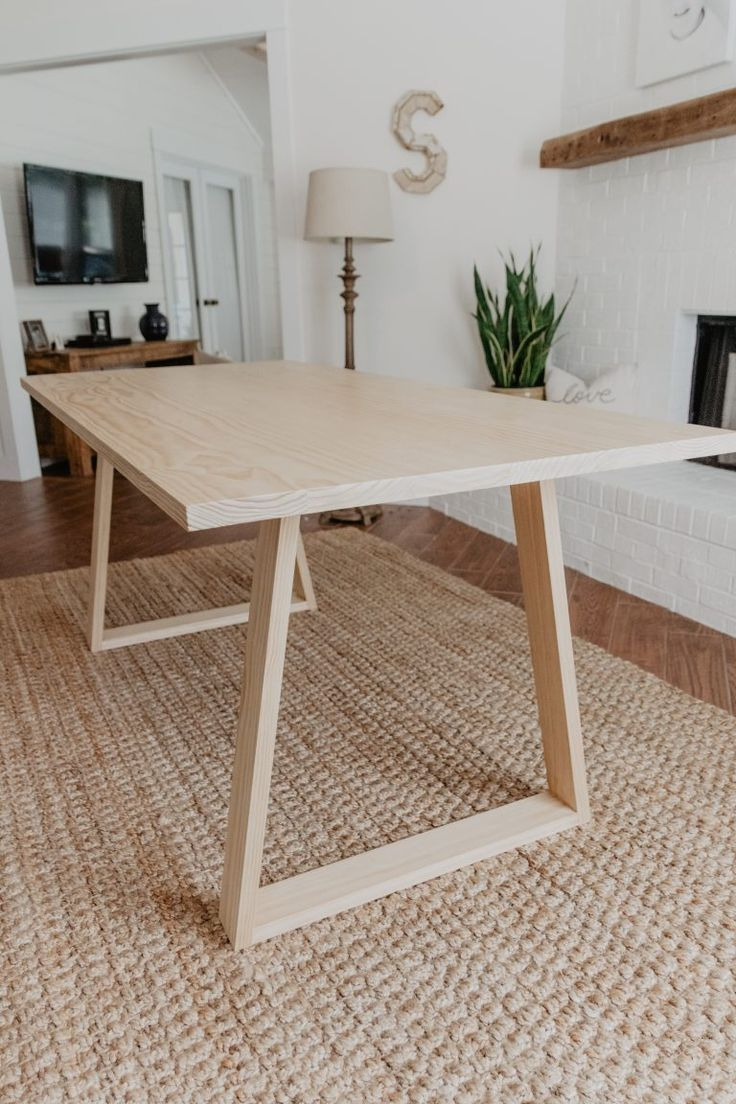 Diy Modern Dining Table With Images Diy Dining Room Table
