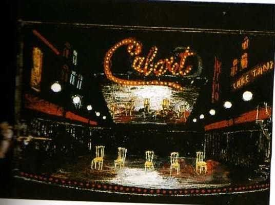boris aronson cabaret   ... because i adore boris aronson s designs here s a rendering for cabaret