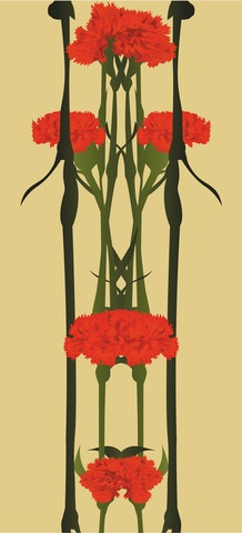 Wallpaper inspired by the Carnation, symbol of the peacefull revolution in April 1974, called the Carnation Revolution.    www.takeportugal.com $156.99
