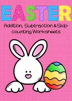 This bundle contains my Easter Addition & Skip-counting, and Easter Subtraction & Skip-Counting resources.Altogether there are 16 different activities (in both colour and black & white).In this bundle:Easter Addition and Skip-Counting:- Addition to 10 (x2)- Addition to 15 (x2)- Skip-counting by 2's (x2)- Skip-counting by 5's- Skip-counting by 10'sEaster Subtraction and Skip-Counting:- Subtraction to 10 (x2)- Subtraction to 20 (x2)- Skip-counting backwards by 2's (x2)- Skip-countin...