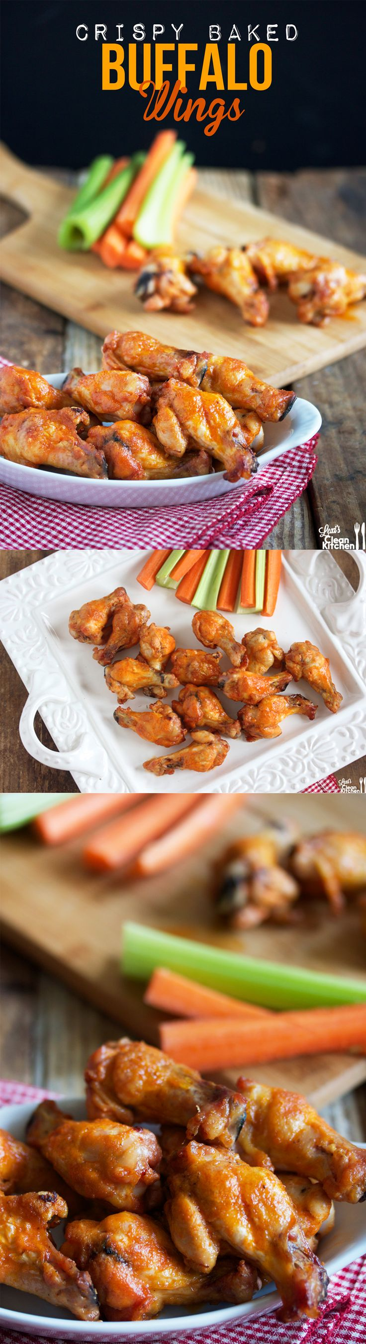 Crispy BAKED Buffalo Wings! #glutenfree #paleo #football